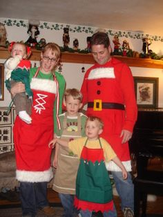 Christmas Aprons - Santa, Mrs Claus, Elves. Homemade Christmas 2008