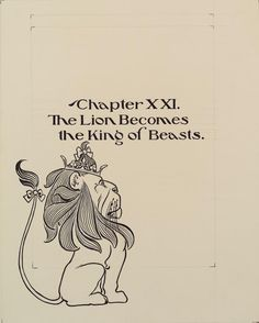 "Chapter XXI. ""The Lion Becomes the King of Beasts."" (ca. 1901)"