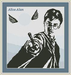 Cross Stitch Pattern Portrait Harry James Potter от HallStitch