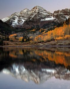 Autumn in the Rockies, Maroon Bells, Colorado - Jason Branz