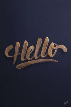 beautiful lettering!