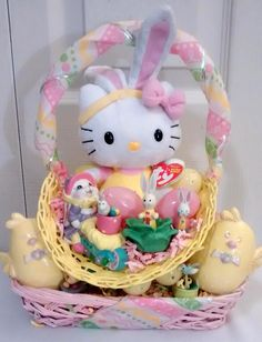 Tan puppy toyeaster gift basket 30 all payments through paypal yellow pink hello kitty bunny vintage easter gift basket 35 all payments through paypal please negle Choice Image