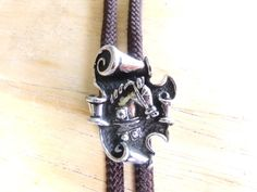 Bolo Vintage Swank Horse Bolo Brown Bolo gift by Morethebuckles