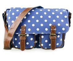Little Wings Factory - Polka Dot Blue Canvas Bag, £23.00