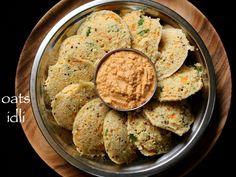Hebbar's kitchen - oats idli recipe, instant oats idli recipe, masala oats idli recipe - step by step photo, video recipe. oats idli is a healthy south indian breakfast recipe Oats Recipes Indian, South Indian Breakfast Recipes, Veg Recipes, Healthy Breakfast Recipes, Healthy Snacks, Vegetarian Recipes, Snack Recipes, Cooking Recipes, Gourmet