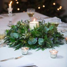 Lavender & Lime Table Wreath
