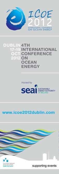 Dublin Lamppost Banners for the 4th International Conference on Ocean Energy (ICOE 2012). #civicmedia2012