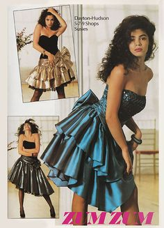 Zum Zum (1989) #80sprom. My babysitter's daughter wore this to prom and I thought it was so pretty like a Madonna dress