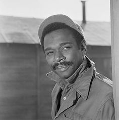 For five seasons Ivan Dixon appeared in the sitcom, Hogan's Heroes as Staff Sergeant James Kinchloe, Communications Specialist. His Kinch character was a bit of a Renaissance man. He was also Colonel Hogan's second in command. African American Actors, Actor Secundario, Hogans Heroes, Comedy Tv, Old Tv Shows, Classic Tv, Old Hollywood, Classic Hollywood, Movie Stars