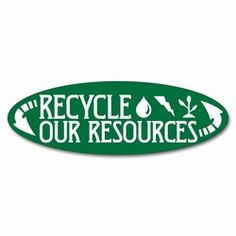 Recyclable Items Only Sticker Blue Recycle Reuse Container Trash Can label Decal