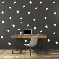FREE SHIPPING Wall Decal Stars Color White.  Large by Osnatdecal
