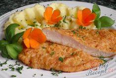 Recept Obrácený kuŕecí řízek s bramborovou kaší Food And Drink, Menu, Chicken, Recipes, Food Ideas, Easy Meals, Menu Board Design, Recipies, Buffalo Chicken