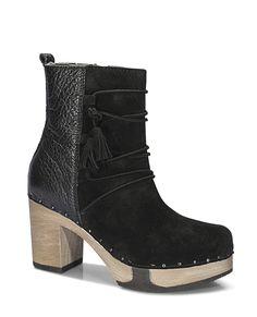 EDITH Bailey Nature schwarz #softclox #munich #EDITHbailey #nature #black #shoes #clogs #stiefeletten #verloursleather #woddensole #fall #winter