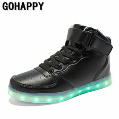 super popular a5398 8d326 2016 women lights up led luminous shoes high top glowing casual shoes with  new simulation sole