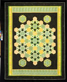 Midnight Sunflower. Quilt from Doubledipity: More Serendipity Quilts by Sara Nephew