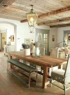 Country style home....i love the light colors