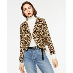 ANIMAL PRINT JACKET - TRENDING PICKS-WOMAN   ZARA United States ($50) ❤ liked on Polyvore featuring outerwear and jackets