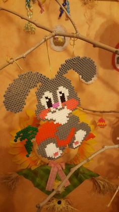Creations, Christmas Ornaments, Beads, Holiday Decor, Blog, Bunny, Hama Beads, Xmas Ornaments, O Beads