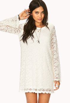 Boho Doll Crochet Shift Dress   FOREVER21 -  yes. must pair with a brown leather vest or corset