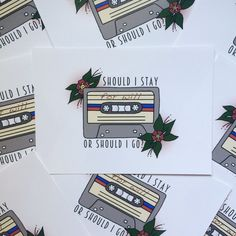 """These cassette-themed holiday cards. 