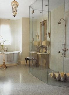love the clam shell in shower or btwn our sinks to hold towels and soaps