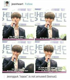 When he fucking hit Jin when he played as a fan and called him oppa I WAS CRYINGGGG