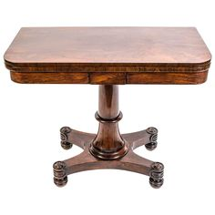 View this item and discover similar for sale at - This is an antique William IV rosewood card table, circa 1830 in date. This gorgeous card table is crafted from beautiful rosewood which has been French Dining Table, Wood, Inspiration, Furniture, Table, Neoclassical Furniture, Wood Table, Home Decor, Table Cards