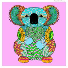 """Awesome coloring app. """"colored this koala"""""""