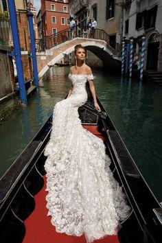 Off the Shoulder Wedding Dress by Julie Vino Venice 2018 Collection