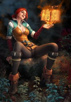 fantasy and science fiction — darkbeautyss: Triss' Alchemy by xenbis Fantasy Girl, Chica Fantasy, Fantasy Warrior, Fantasy Women, Witcher Art, The Witcher 3, The Witcher Books, The Witcher Wild Hunt, Fantasy Characters