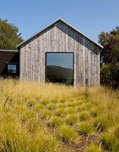 Like the siding, simple but large windows - Walker-Warner Architects - PORTOLA VALLEY