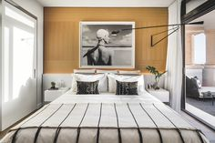 Fisher Island's Palazzo del Sol, a beach house in the sky - Indelux - Interior Design and General Contractors Palazzo, Small Room Bedroom, Bedroom Decor, Bedroom Ideas, Miami Beach, Retro Bedrooms, Floor Sitting, Interior Architecture, Interior Design