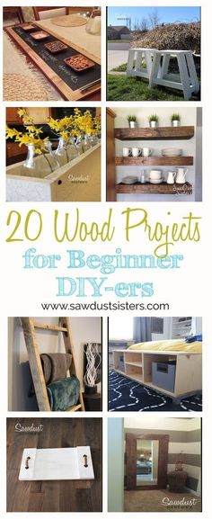 Awesome projects to add a little FARMHOUSE to your home on a budget. Great Beginner tutorials!