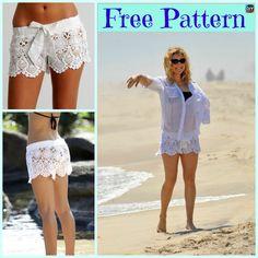 Pretty Crochet Lace Shorts – Free Pattern #freecrochetpatterns #crochetshorts