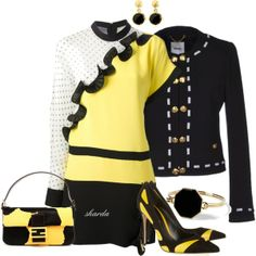 """yellow"" by gaitriesharda on Polyvore"