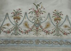 18C 18th Century Dress, 18th Century Costume, 18th Century Fashion, Historical Costume, Historical Clothing, Female Clothing, Textile Tapestry, Tapestries, Machine Embroidery Patterns