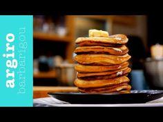 Pancakes • Argiro Barbarigou - YouTube Greek Recipes, Food Design, Pancakes, Brunch, Cookies, Breakfast, Desserts, Youtube, Crack Crackers