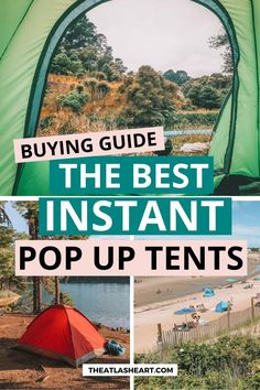The best pop up tents for camping, the beach, and backyard hangouts. Whether you're looking for pop up tents for dogs, easy pop up tents for camping, or instant cabin tents, we've got you covered. Instant pop up tents can be some of the best camping gear for beginners or those who simply want a hassle-free outdoor travel experience. Click through to find the best instant tents for camping and everything in between. #popuptent #instanttent #familycampingtent #popupcampingtent #campinggear Best Hiking Gear, Best Camping Gear, Camping Ideas, Large Pop Up Tent, Pop Up Camping Tent, 4 Person Tent, Instant Tent, Rain Fly, Cabin Tent