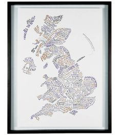 Literary Britain Map Print
