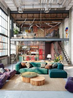 51 industrial lofts created with rendering software - Home Decor Loft Estilo Industrial, Industrial Home Design, Industrial House, Vintage Industrial, Industrial Style, Loft Interior Design, Loft Design, Tiny House Design, Interior Modern