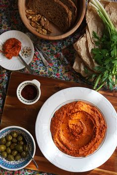 Muhammara, Red Pepper and Walnut Dip by Olga Irez of Delicious Istanbul