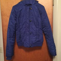 Small Aeropostale winter coat. Blue, only wore a few times and its in great condition. Selling b/c I got a new coat for Xmas . Aeropostale Jackets & Coats Puffers