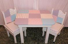 Mesita patchwork deco para las niñas. http://hogar-decoracion.blogspot.com