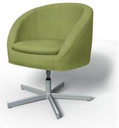 Light Olive Green Panama Cotton Bemz Skruvsta Swivel Chair Cover $79