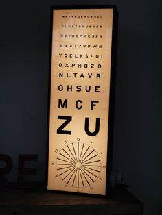 Ancien test d acuité visuel d ophtalmologiste et d opticien, tableau Monoyer 6cc7145186c9
