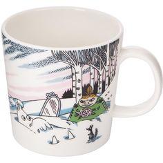 Iittala Moomin Mug - Spring Winter ($36) ❤ liked on Polyvore featuring home, kitchen & dining, drinkware, multi, winter mugs, ceramic tableware, ceramic mugs, inspirational mugs and iittala mugs