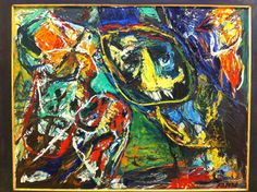Asger Jorn / Verlust des mitte (perte du centre) 1958