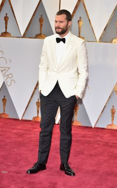 Oscars 2017: The Best Dressed Men - Jamie Dornan Opted For This White Tux, And Looked Very Sharp Indeed