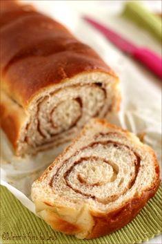 Pane dolce alla cannella o Cinnamon Swirl Bread #bread #cinnamon #cannella #pane #dolce #brioche #swirl
