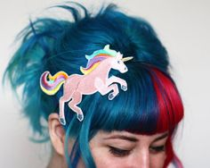 Hey, I found this really awesome Etsy listing at https://www.etsy.com/listing/163919929/unicorn-headband-hair-band-pink-or-white  Love the hair too XD